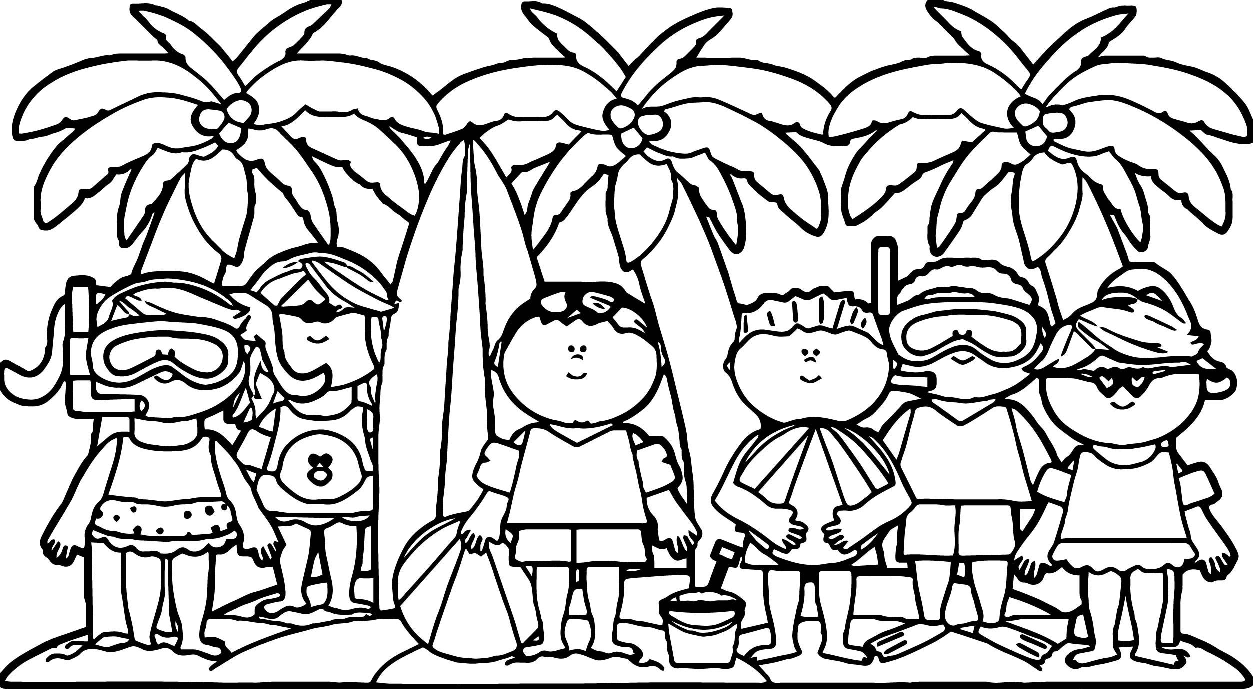 boy summer coloring pages - photo#28