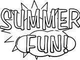 Summer Text Fun Coloring Page