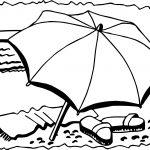 Summer Umbrella Slipper Coloring Page