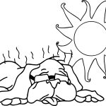 Summer Very Hot And Dog Coloring Page