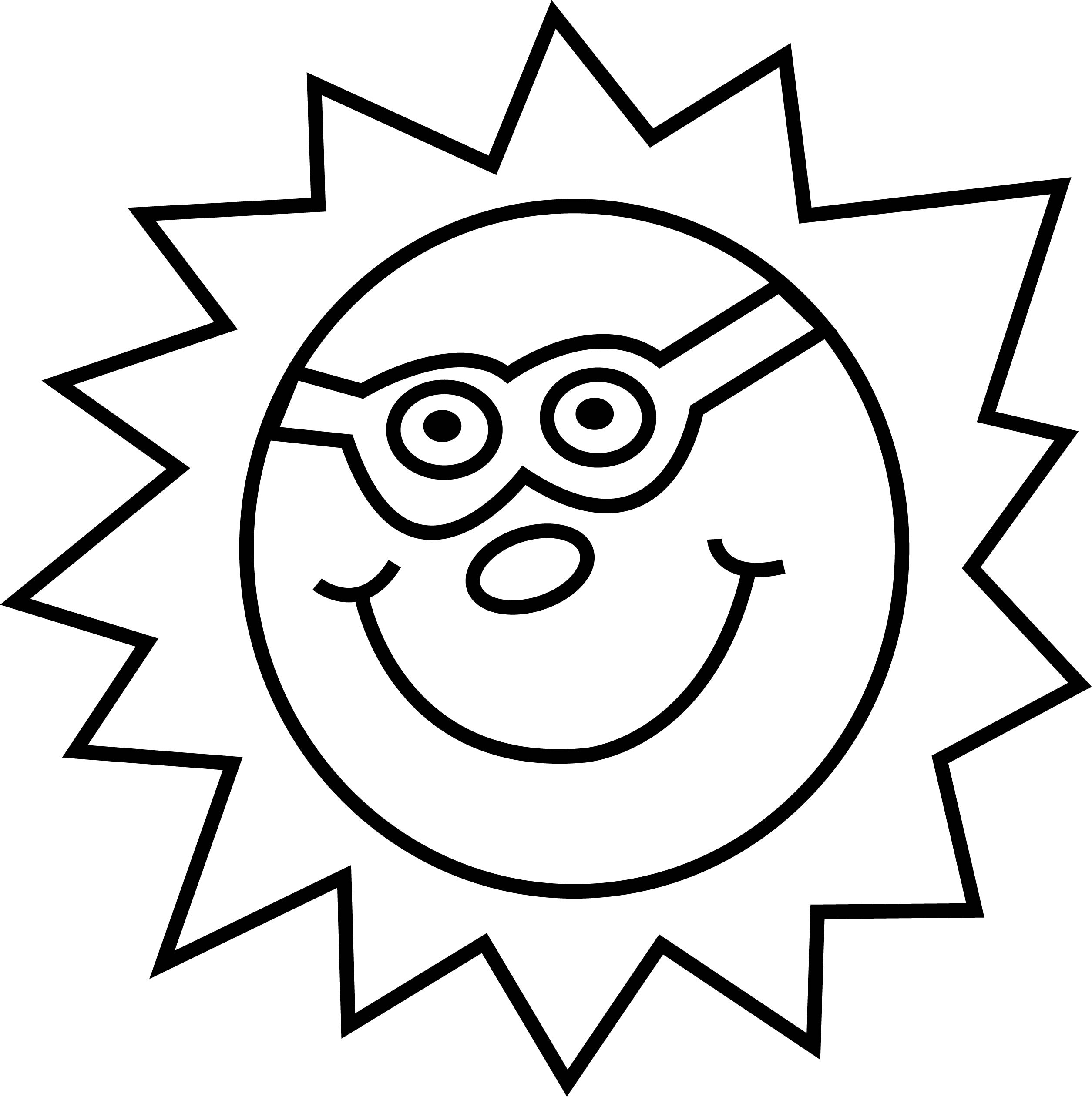 Sun Summer Coloring Page
