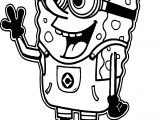 Sunger Bob Minion Coloring Page