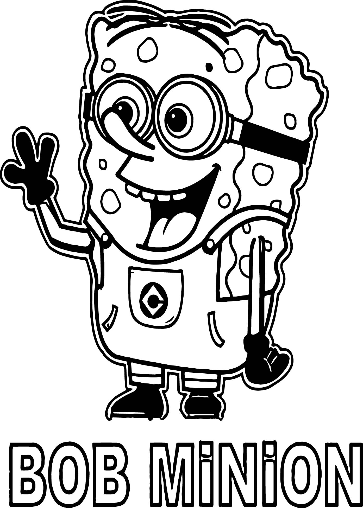 Multiple Minions Coloring Pages Bob Book Pdf King Large