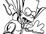 Superman Spiderman Bart The Simpsons Coloring Page