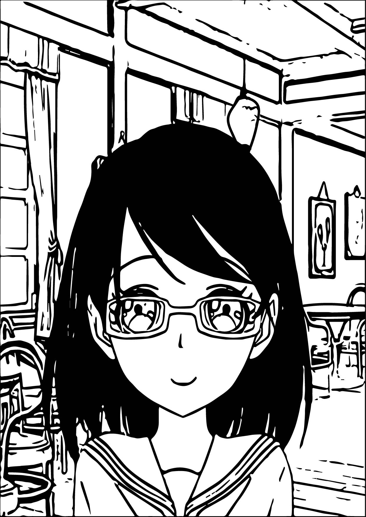 Supernoobs Girl Manga Coloring Page