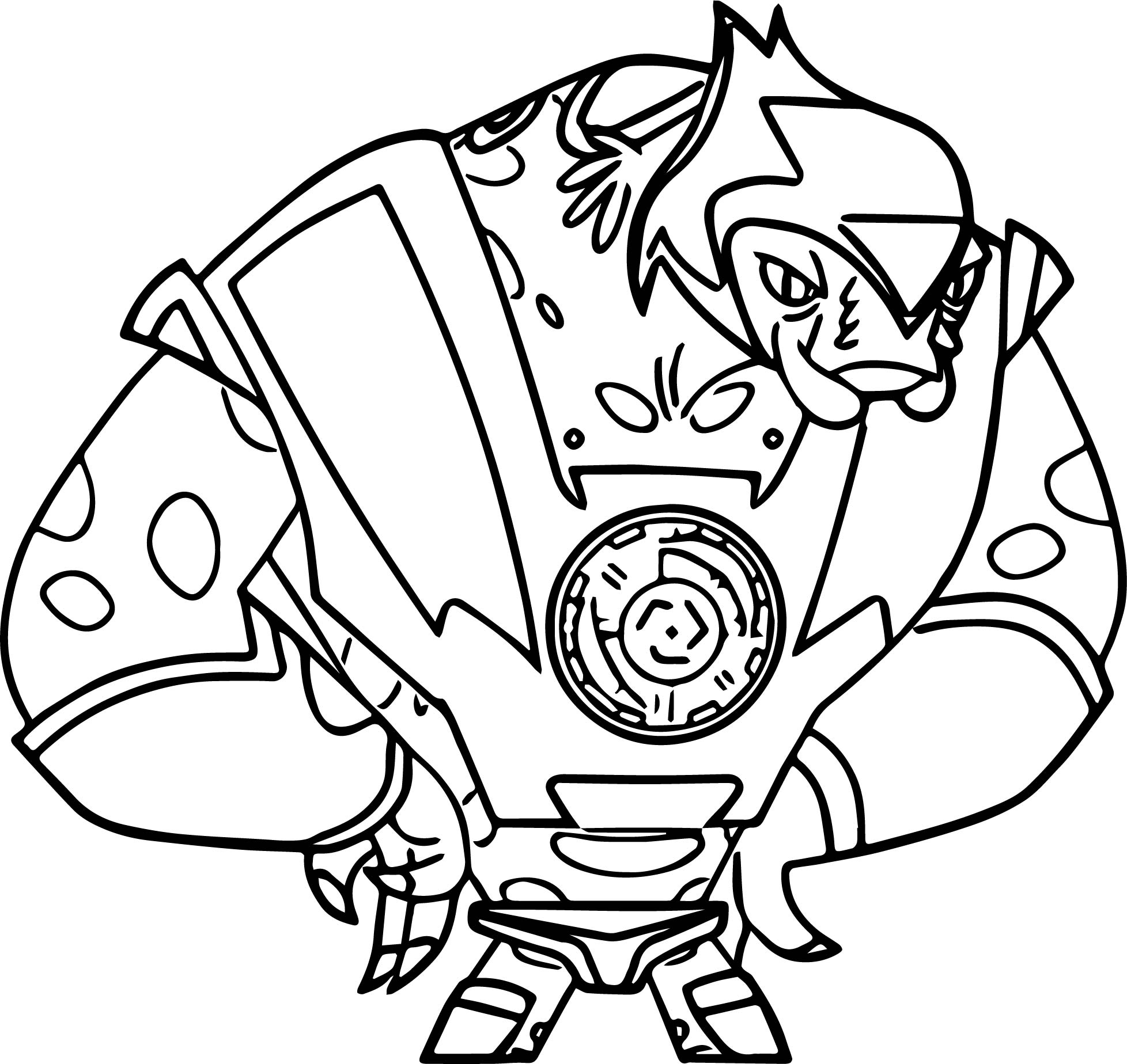 Supernoobs Zenblock Creature Coloring Page