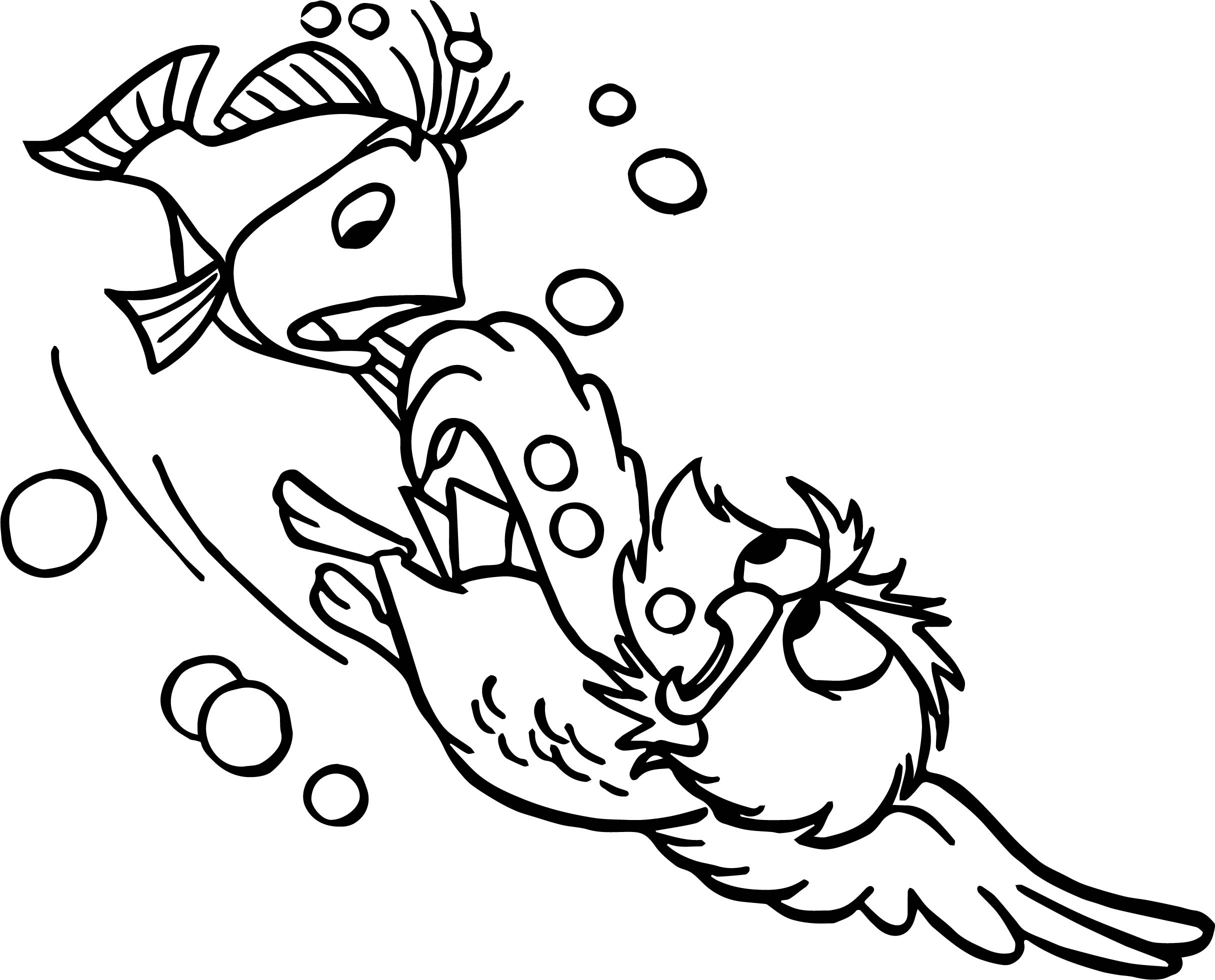 Swordin Stone Rescue And Fish Coloring Page Wecoloringpage