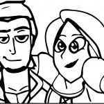 Tangled Selfie Coloring Page