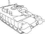 Tank 90 Shiki Military Truck Coloring Page