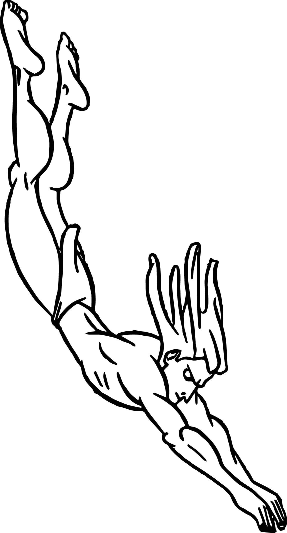 Tarzan Jumping Down Coloring Page