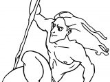 Tarzan On The Rope Coloring Page