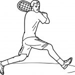 Tennis Backstroke Coloring Page