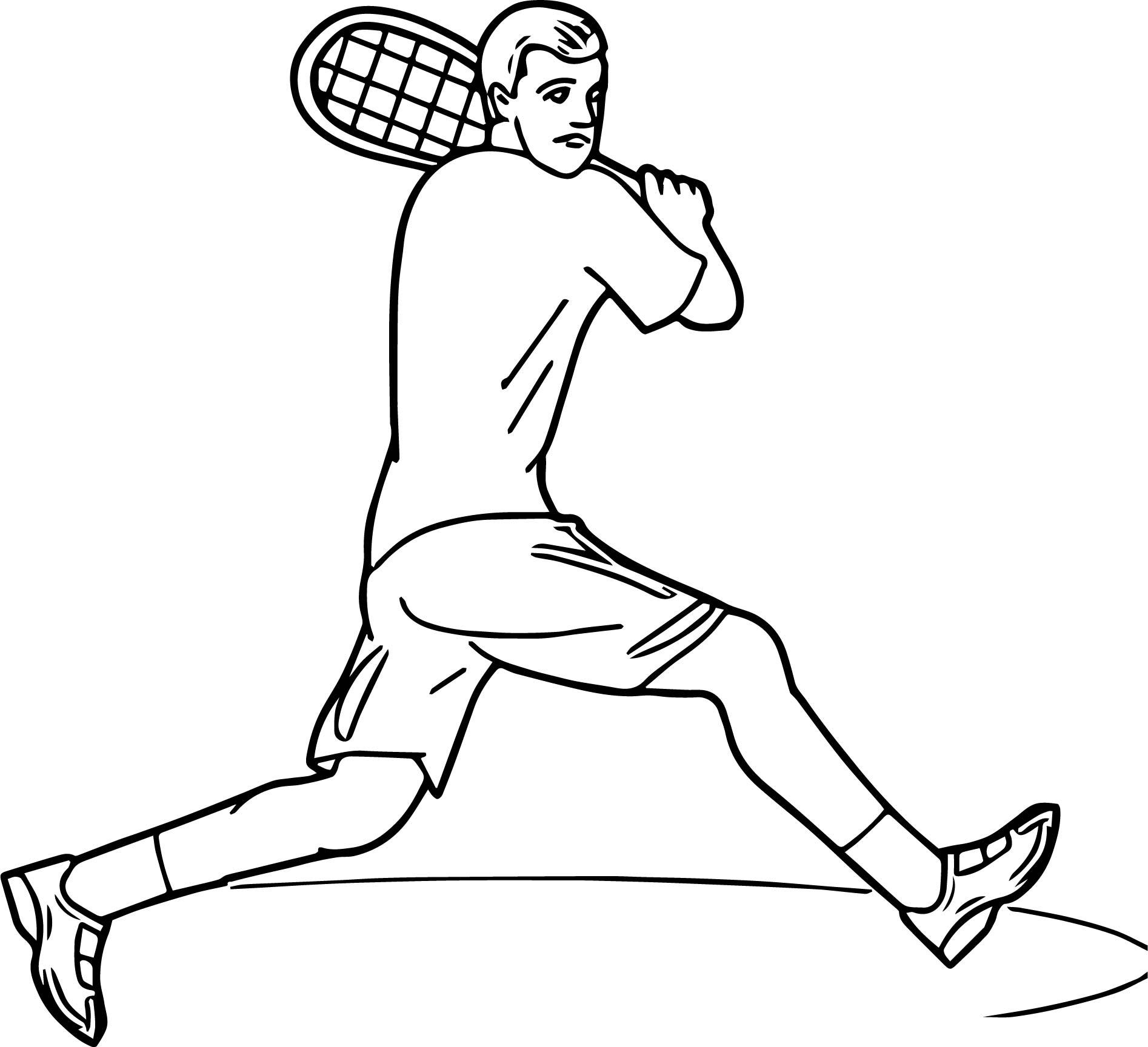 Tennis Backstroke Coloring Page