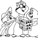 The Alvin Show Colored Coloring Page