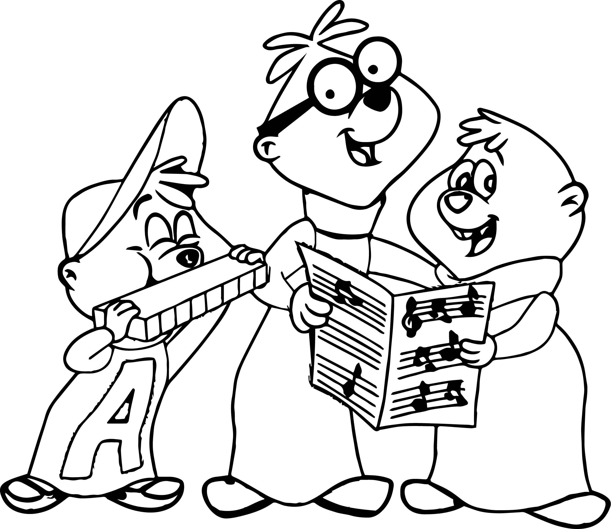 the alvin show colored coloring page wecoloringpage
