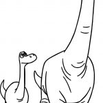 The Good Dinosaur Disney Arlo Poppa Cartoon Coloring Pages