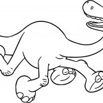 The Good Dinosaur Disney Arlo Scared Cartoon Coloring Pages