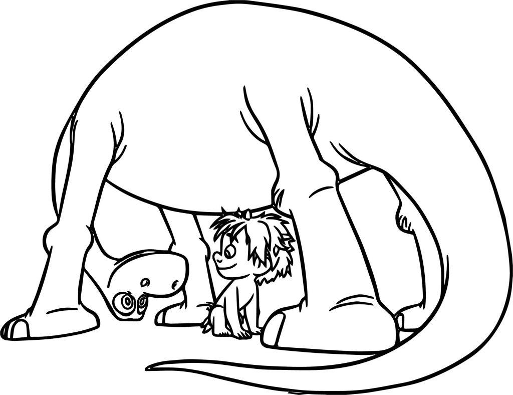 The Good Dinosaur Disney Arlo Spot Boy Cartoon Coloring