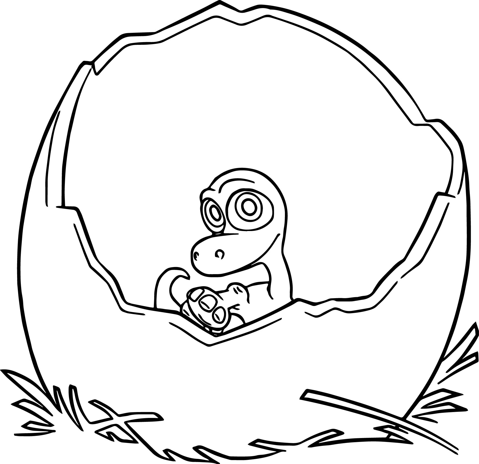 The Good Dinosaur Disney Baby Arlo Cartoon Coloring Pages