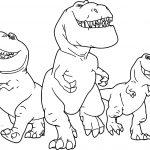 The Good Dinosaur Disney Nash Ramsey Butch Cartoon Coloring Pages