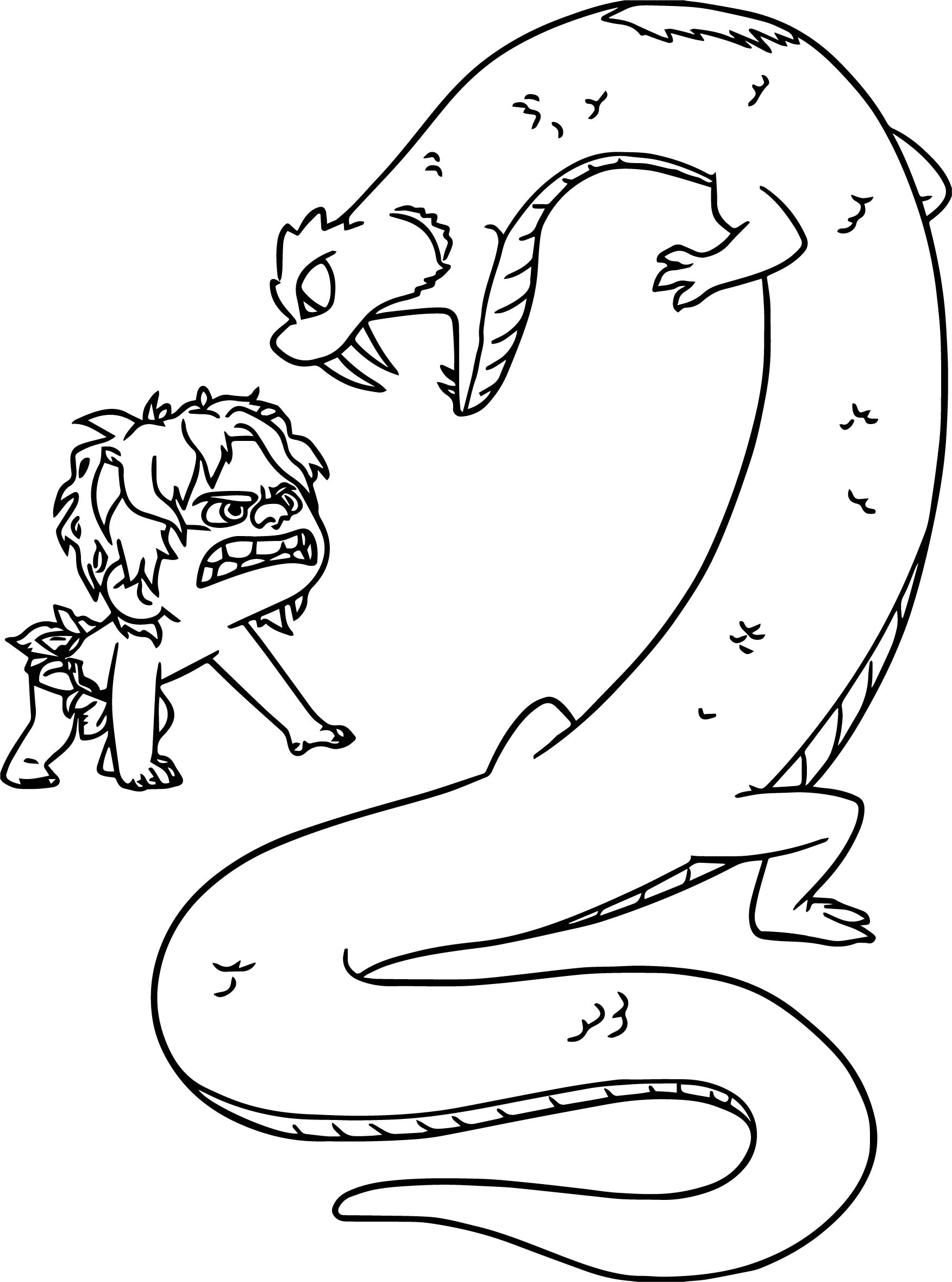 The Good Dinosaur Disney Spot Monster Cartoon Coloring Pages