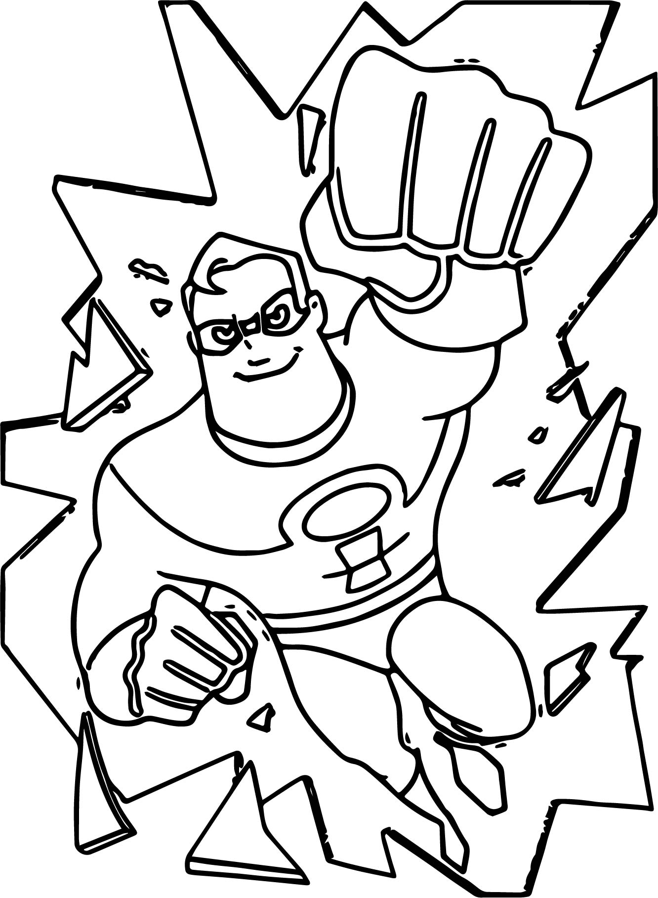 The Incredibles Broken Glass Coloring Pages
