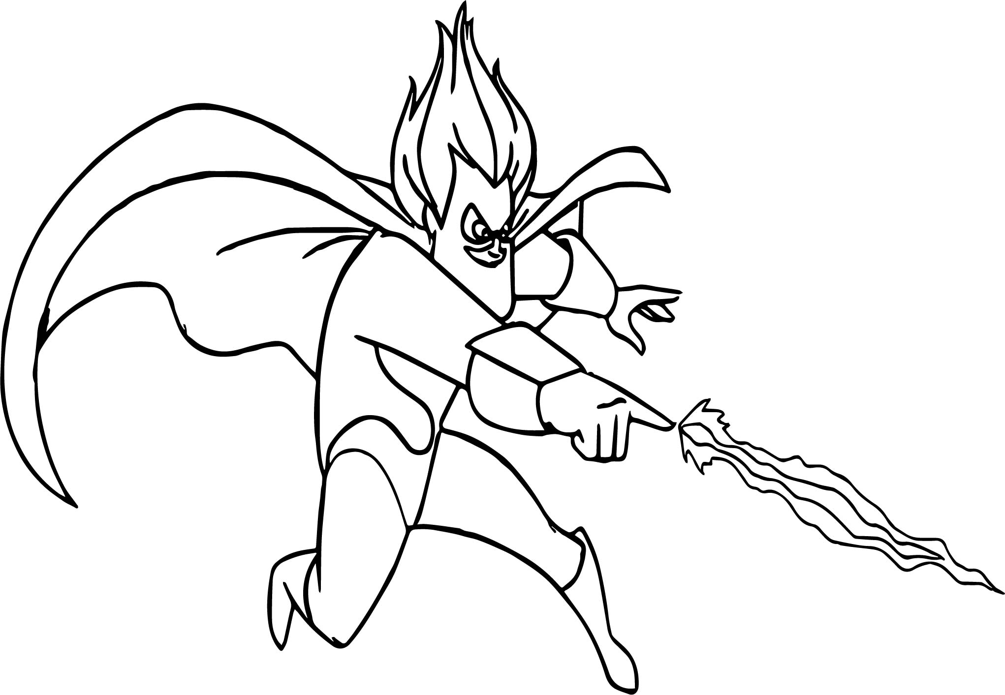 The Incredibles Electro Coloring Pages