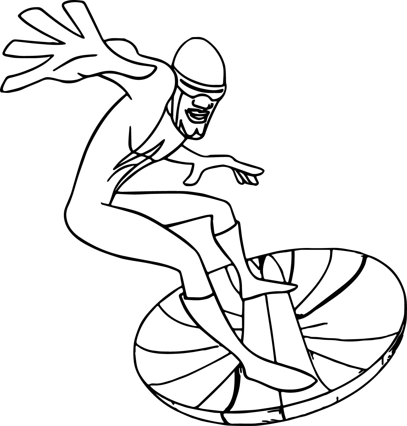 The Incredibles Fly Slide Coloring Pages