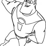 The Incredibles Power Man Coloring Pages