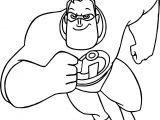 The Incredibles Running Man Coloring Pages