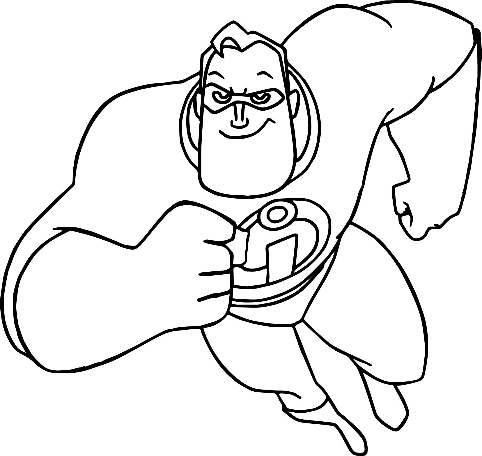 The incredibles running man coloring pages for The incredibles coloring pages