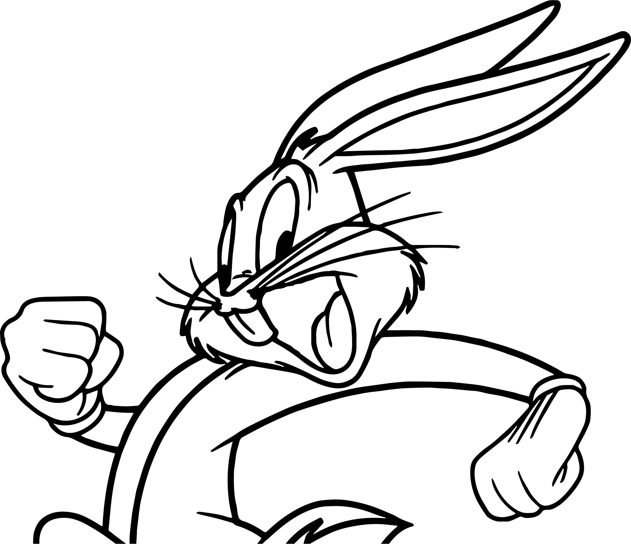 the looney tunes bugs bunny coloring page wecoloringpage