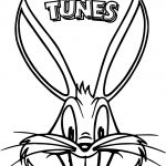 The Looney Tunes Bugs Buny Face Coloring Page