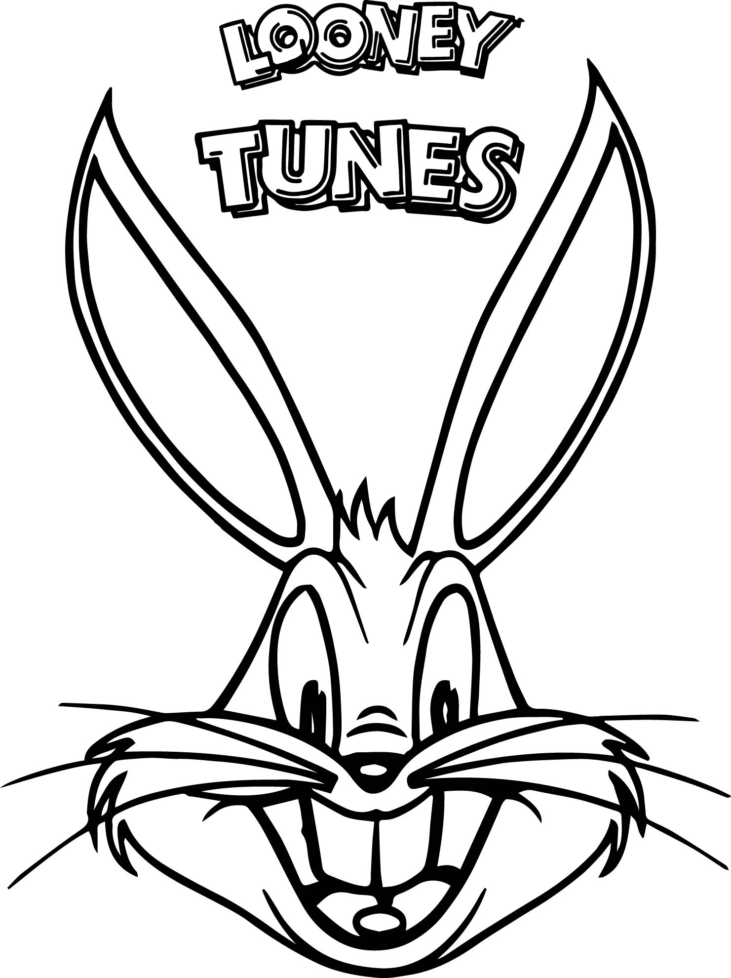 The Looney Tunes Bugs Buny Face Coloring Page ...