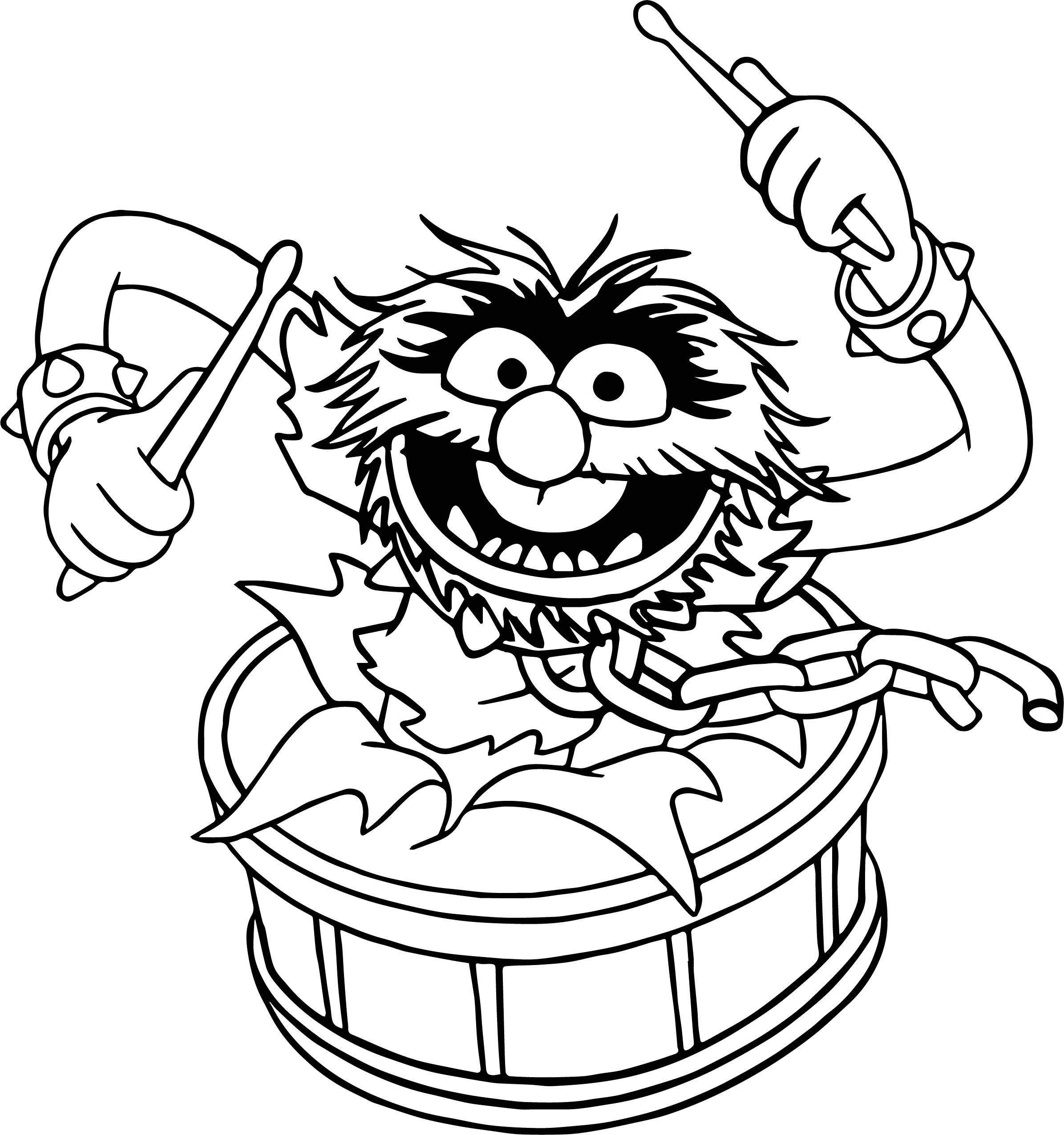 The muppets animal song coloring pages for Muppet babies coloring pages