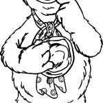 The Muppets Fozzie Bear Think Coloring Pages