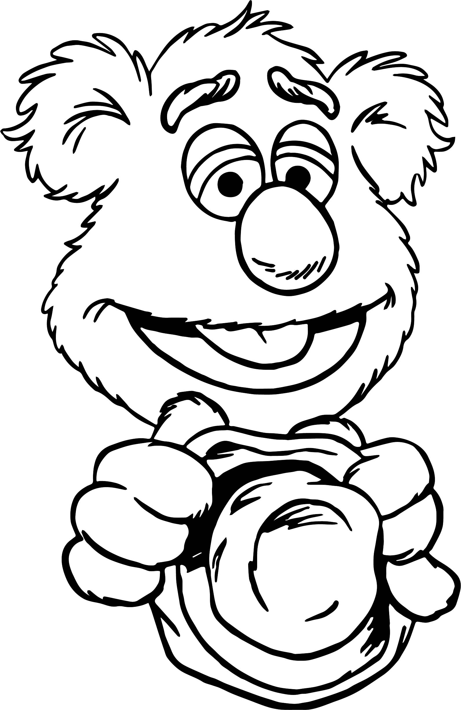 The Muppets Good Fozzie Bear Coloring Pages