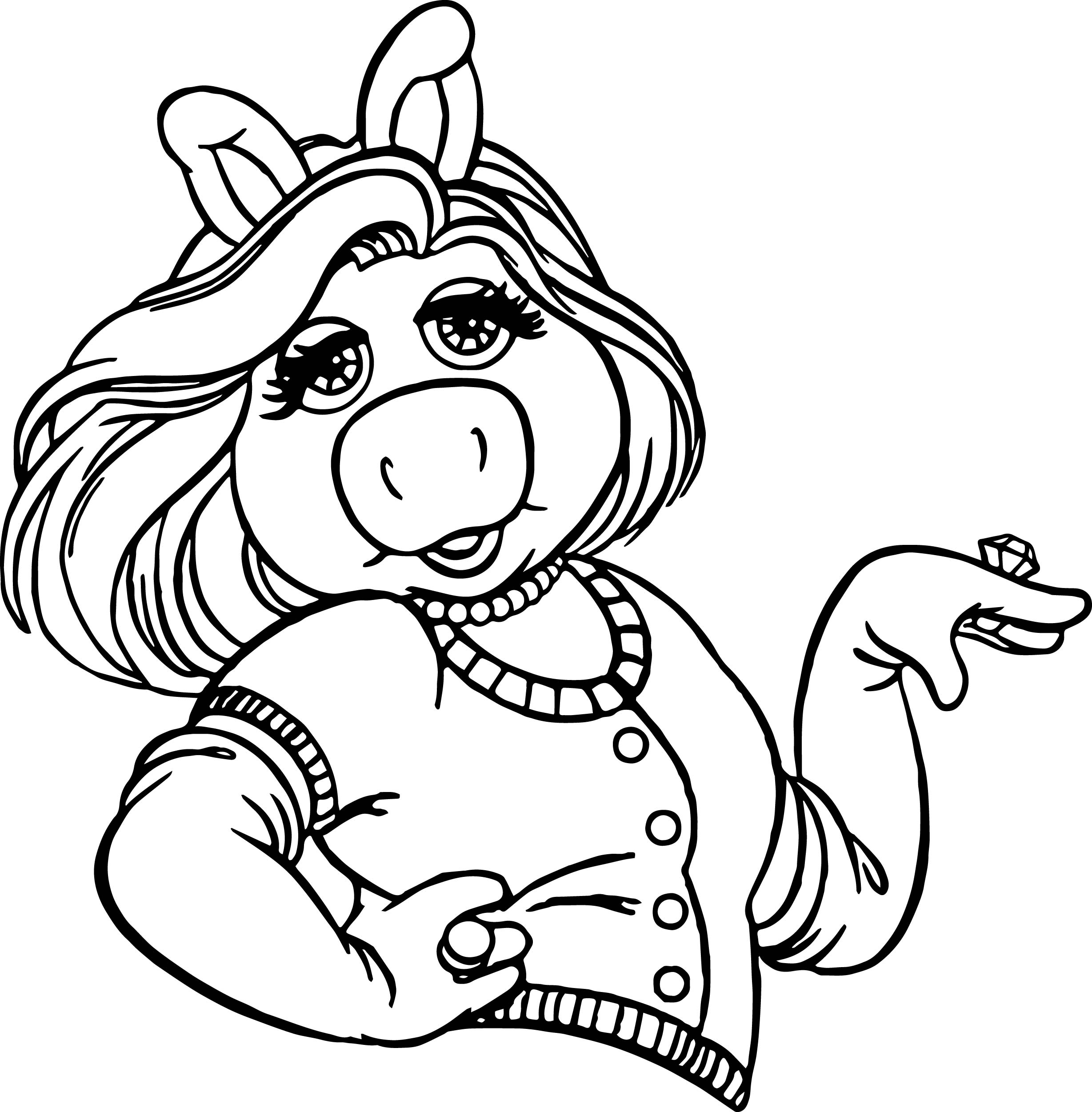 The Muppets Miss Piggy Girl Coloring Pages  Wecoloringpage