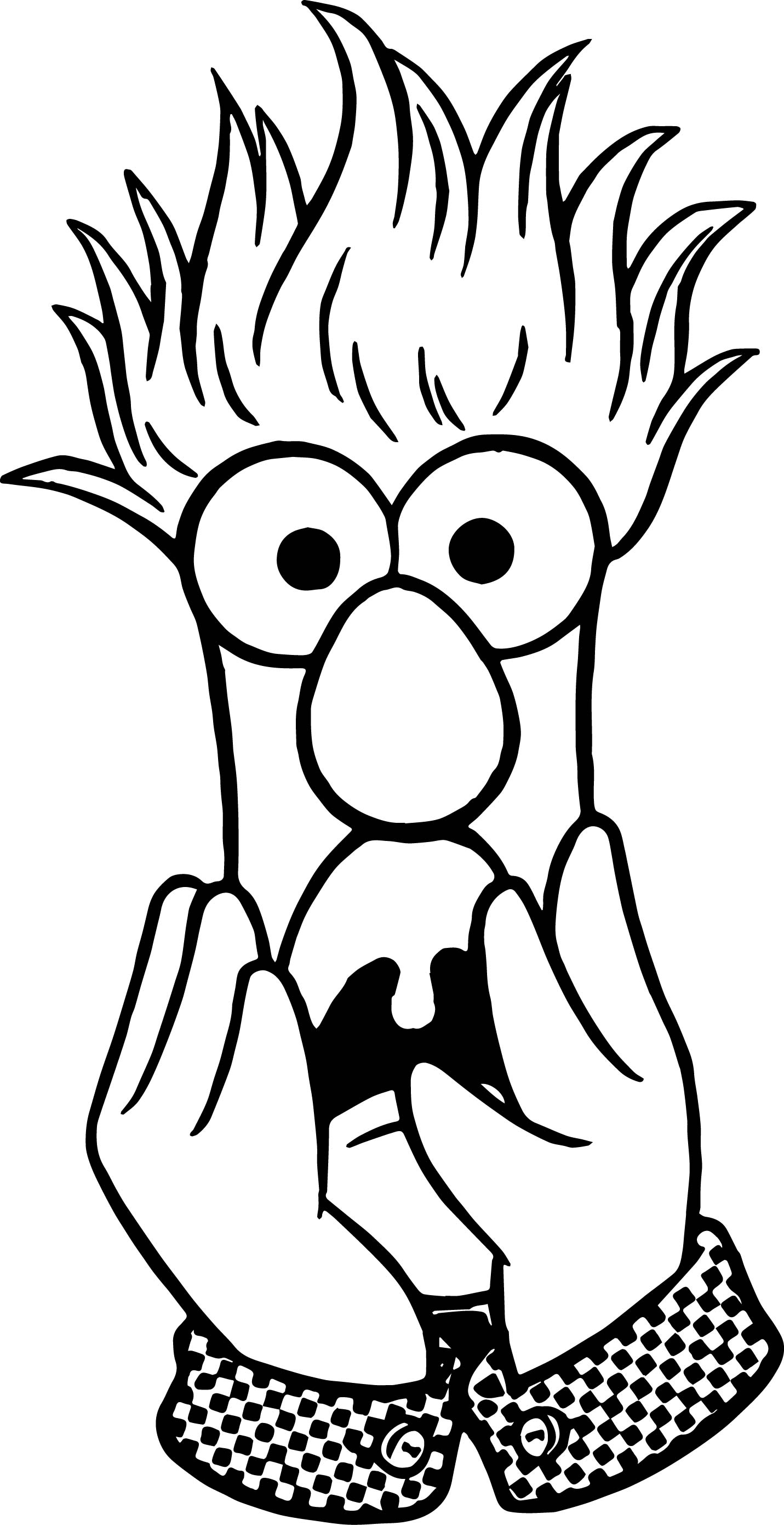 The Muppets Muppets Beaker Fear Coloring Pages  Wecoloringpage