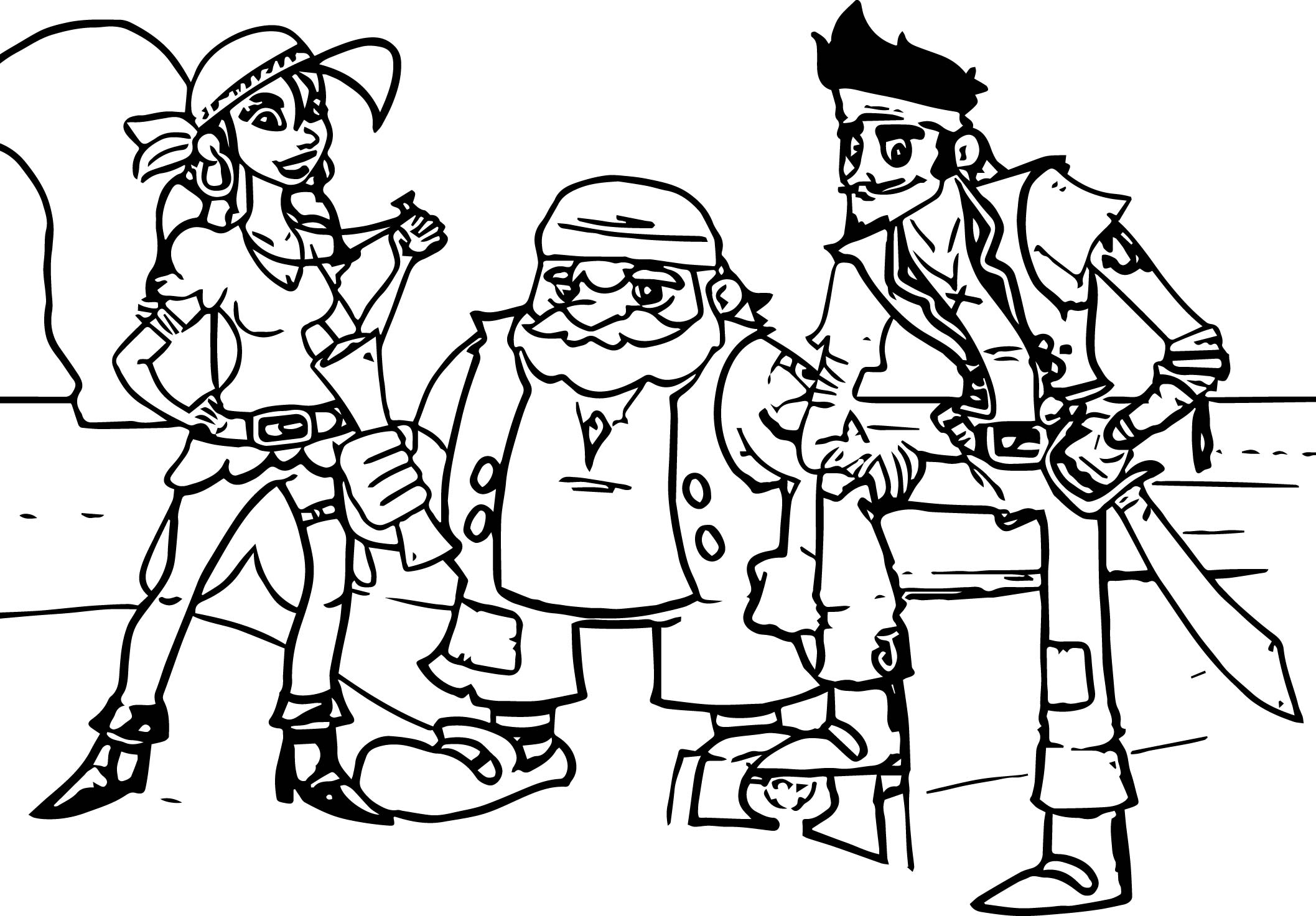 The Neverland Pirates All Grown Up Coloring Page