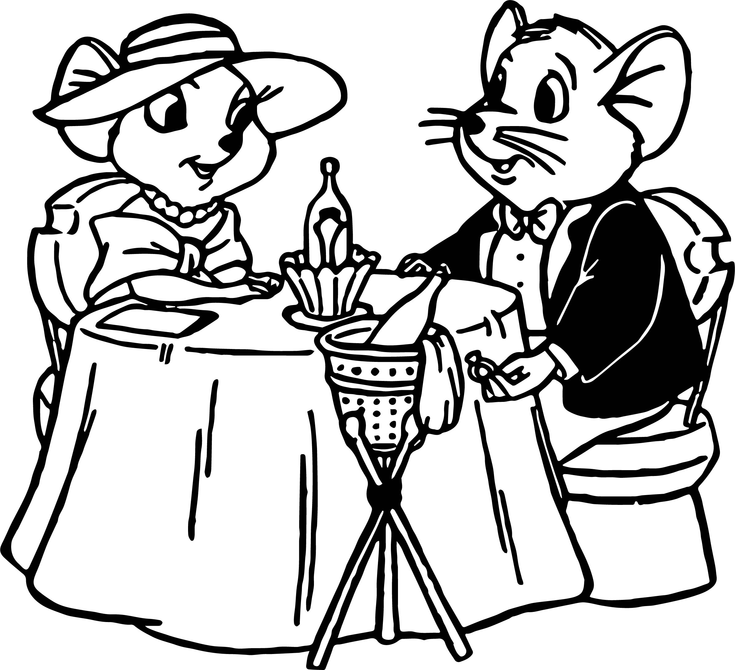 The rescuers dinner coloring pages for Dinner coloring pages