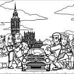 The Simpsons Small Car Coloring Page