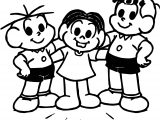 Three Boy Turma Da Monica Coloring Page