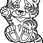 Tiger Baby Coloring Page