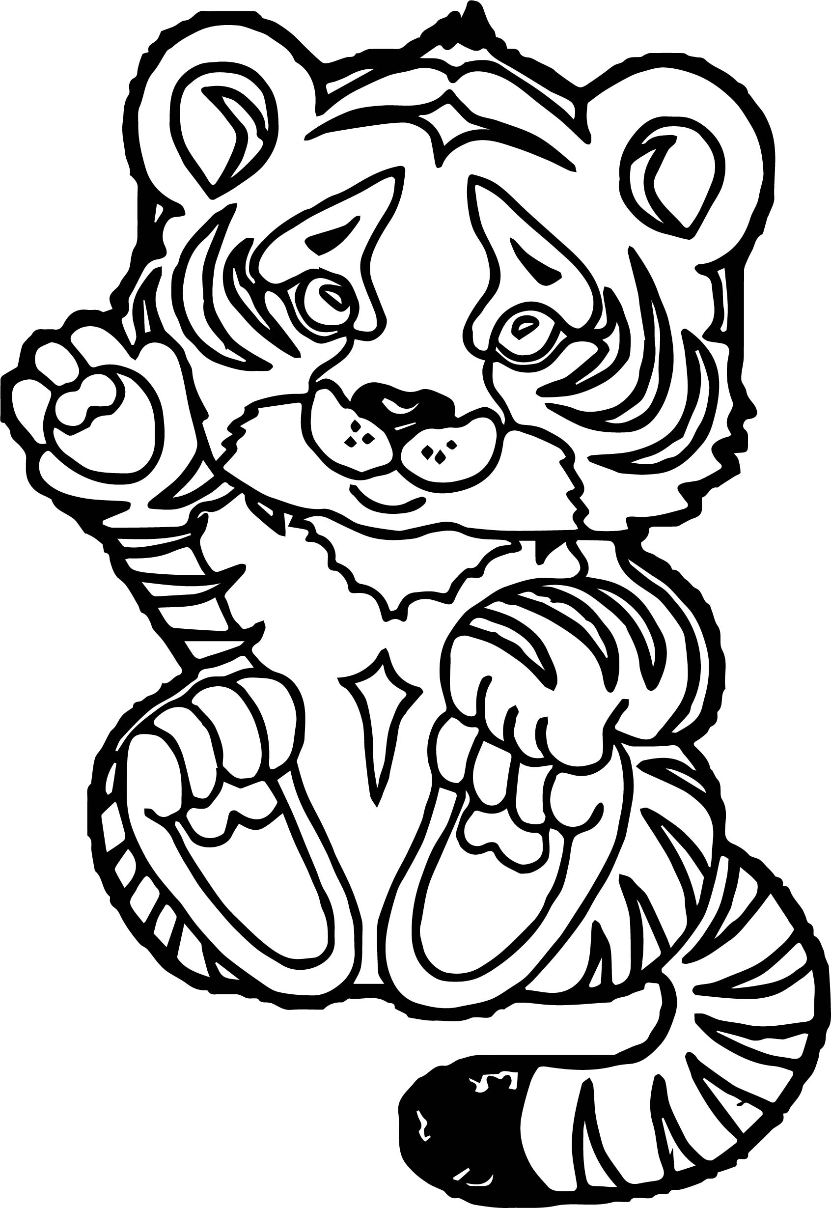 Tiger baby coloring page for Coloring pages of tiger