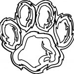 Tiger Footprint Coloring Page