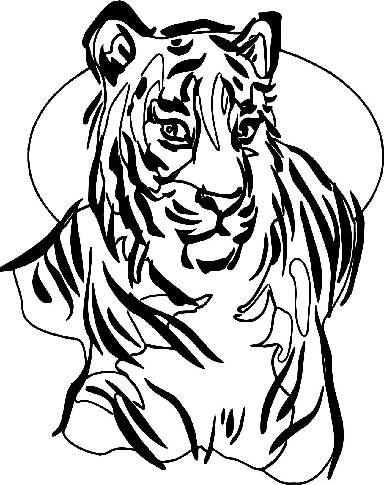 Tiger Picture Coloring Page