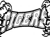 Tigers Team Text And Hand Coloring Page