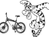 Tigger Bike Coloring Page