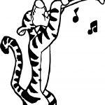 Tigger Clarinet Coloring Page